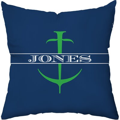 Checkerboard Personalized Anchor Poly Cotton Throw Pillow