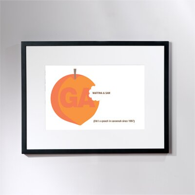 Checkerboard, Ltd Personalized Life's a Peach Framed Graphic Art