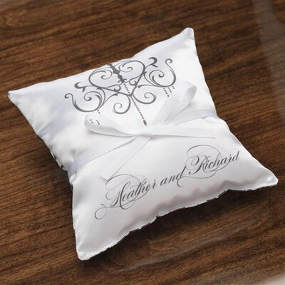 Checkerboard Personalized Harmony Satin Ring Pillow