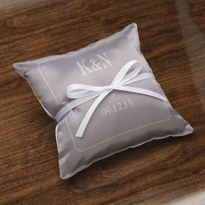 Checkerboard Personalized Composed Satin Ring Pillow