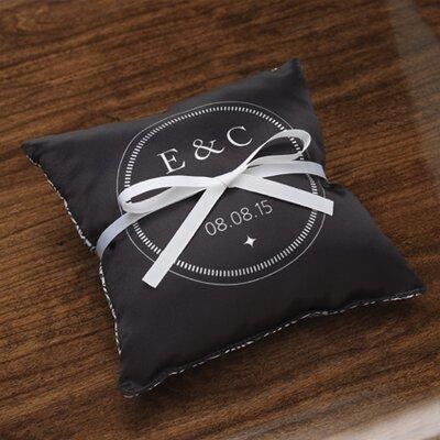 Checkerboard, Ltd Personalized Balance Satin Ring Pillow