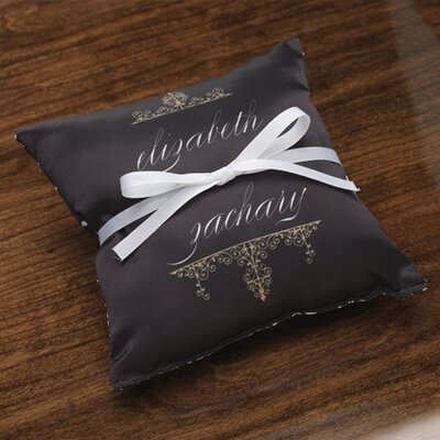 Checkerboard Personalized Alchemy Satin Ring Pillow