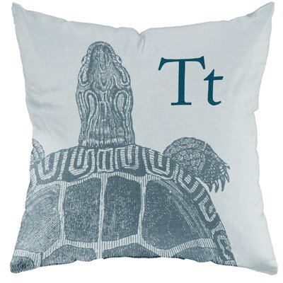 Checkerboard Turtle Poly Cotton Throw Pillow