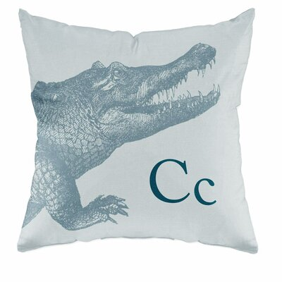Checkerboard Crocodile Polyester Throw Pillow