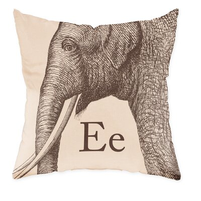 Checkerboard Elephant Poly Cotton Throw Pillow
