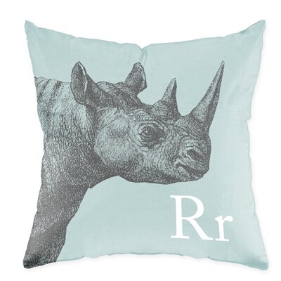 Checkerboard, Ltd Rhino Poly Cotton Throw Pillow