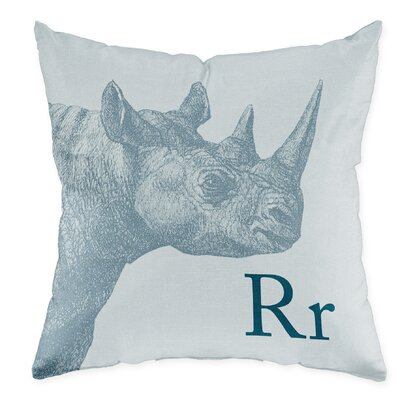 Checkerboard Rhino Poly Cotton Throw Pillow