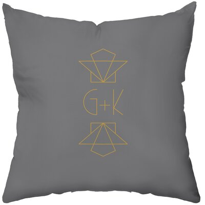 Personalized Gilded Polyester Throw Pillow