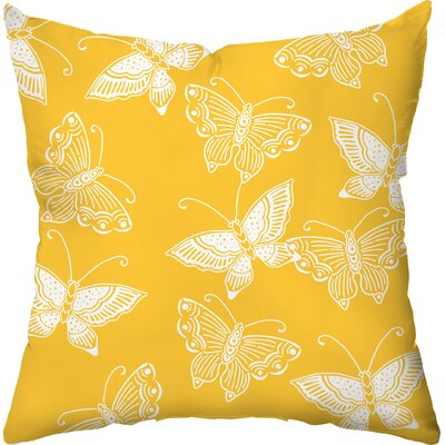 Checkerboard Flutter Poly Cotton Outdoor Throw Pillow