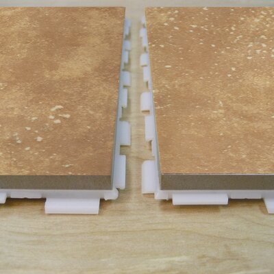 "Avaire Choice 6"" x 6"" Porcelain Tile with Interlocking Tray in Sahara"
