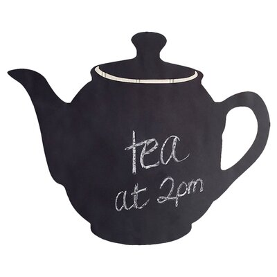 Wallies Teapot Chalkboard Accent Vinyl Peel and Stick