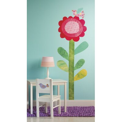 Peel & Stick Big Flower Growth Chart