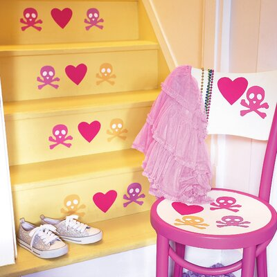 Wallies Candy Skulls Peel and Stick Vinyl Wall Decals