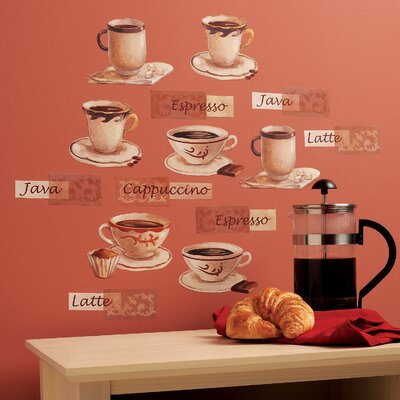 Wallies Fresh Brew Wall Art Vinyl Peel and Stick