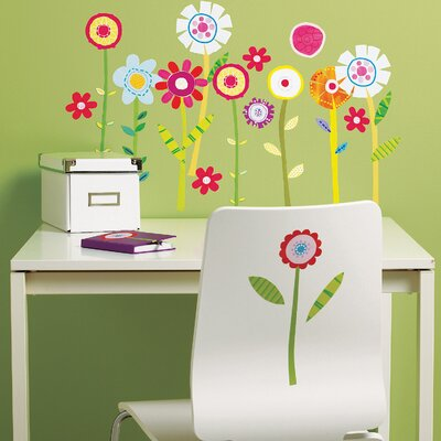 Wallies Green Garden Wall Art Vinyl Peel and Stick
