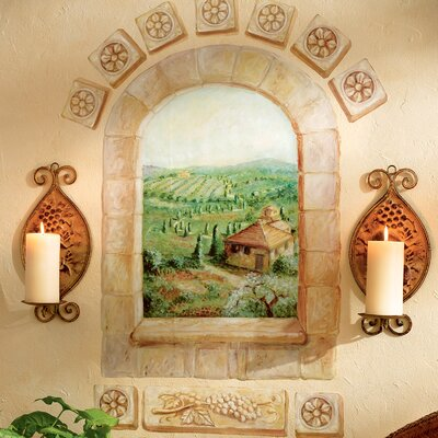 Wallies Tuscan Window Wall Mural