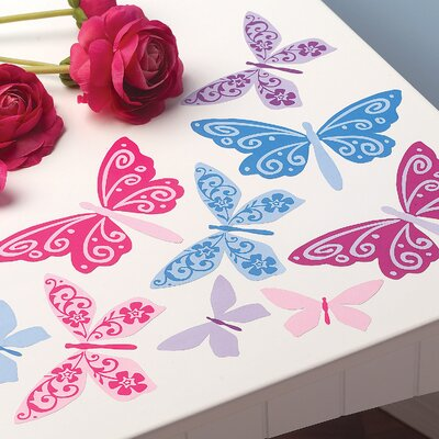 Wallies Flutterbyes Peel and Stick Vinyl Wall Decals