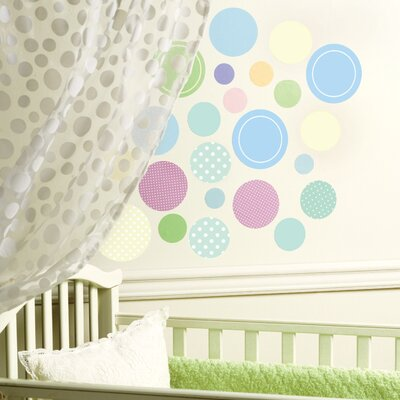 Wallies Baby Dots Peel and Stick Wall Stickers