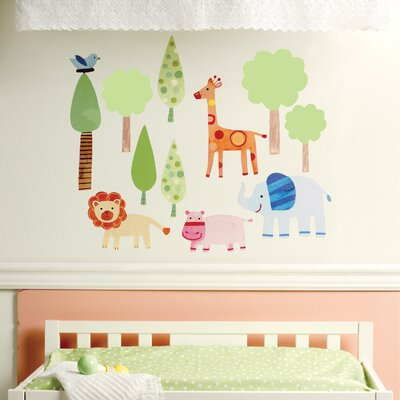Wallies Zoo Baby Peel and Stick Wall Stickers