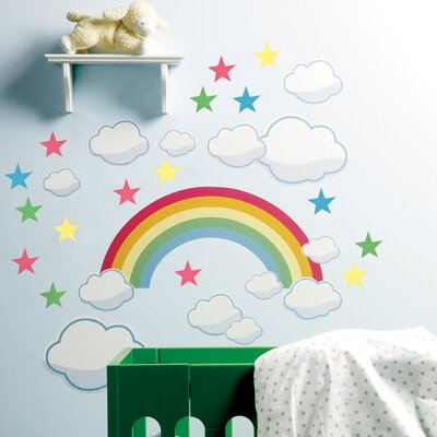 Wallies Rainbow Room Peel and Stick Wall Stickers