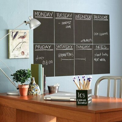 Wallies Slate Gray Chalkboard - 2 Sheet Vinyl Peel and Stick