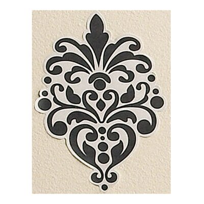 Wallies Beautiful Baroque Vinyl Wall Decals in Black