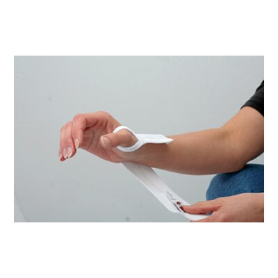 Core Products Elastic Wrist Wrap with Thumb Loop in White