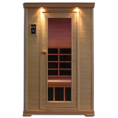Clearlight Infrared Sauna Essential Aspen 2 Person Carbon and Ceramic FAR Infrared Sauna