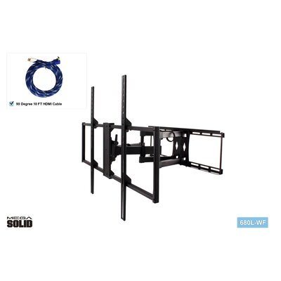 Large Low-Profile Full Motion Articulating Universal Wall Mount for 37