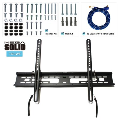 "US Brown Bear Large Low-Profile Tilt TV Wall Mount Bracket for 37"" to 60"" LED, LCD, Plasma Displays"