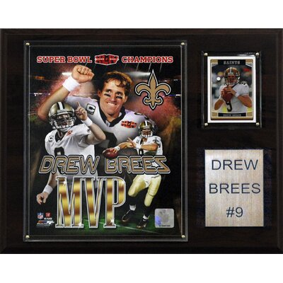 C & I Collectibles NFL New Orleans Saints Super Bowl MVP Plaque