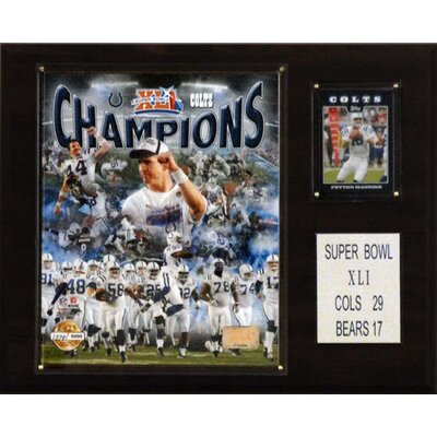NFL Indianapolis Colts Limited Edition Championship Photo Champions Plaque