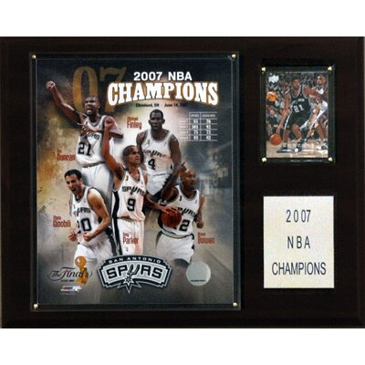 C & I Collectibles NBA Spurs 2006-07 NBA Champions Plaque