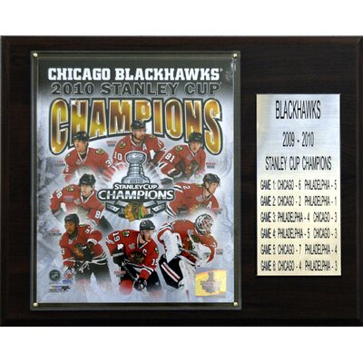 C & I Collectibles NHL Chicago Blackhawks Championship Champions Plaque