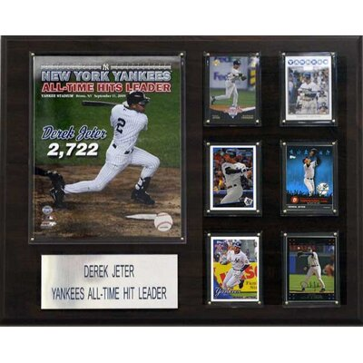 C & I Collectibles MLB New York Yankees Derek Jeter Hit Leader Player Plaque