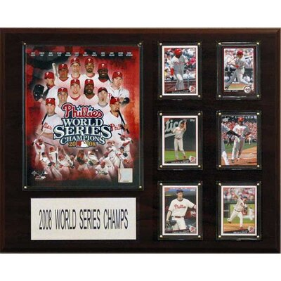 C & I Collectibles MLB Philadelphia Phillies 2008 World Series Champions Plaque