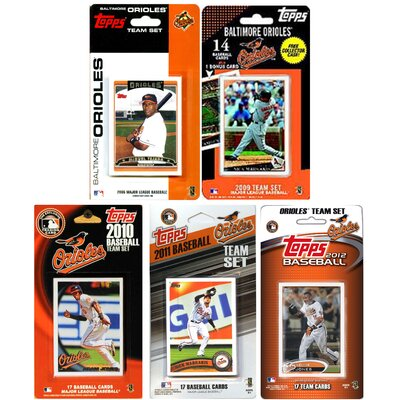 C & I Collectibles MLB Different Licensed Team Trading Cards (Set of 5)