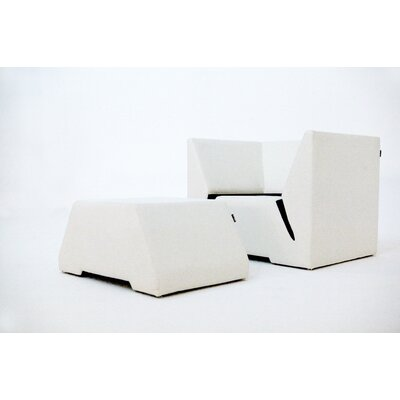 Divide Arm Chair and Ottoman