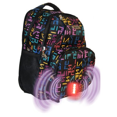 Built-in Alarm School Logo Backpack