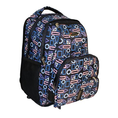iSafe Built-in Alarm Geometric School Backpack