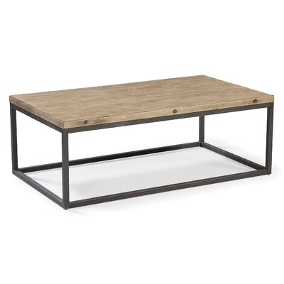 Rustic wood coffee table wayfair Rustic wood and metal coffee table