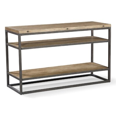 Rustic metal console table wayfair Metal console table
