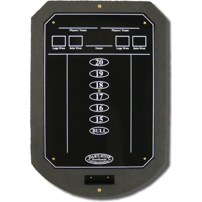 Dart-Stop Gray ScoreStation with Glossy Black Wet-Erase Surface
