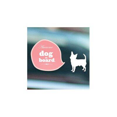 ADZif Signal Dog on Board Window Sticker