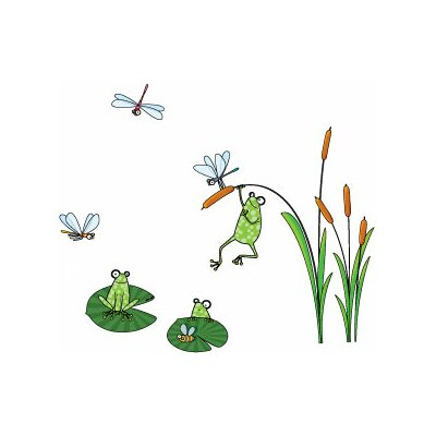 ADZif Ludo Frogs Wall Decal