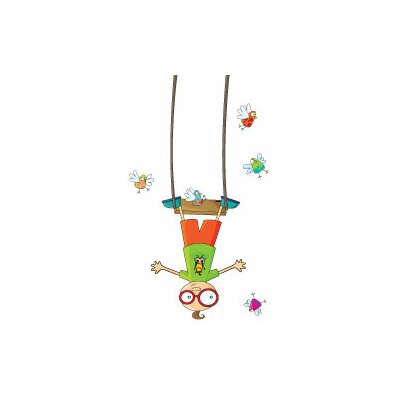 Ludo Swing Boy Wall Decal