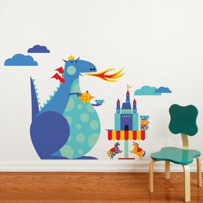 ADZif Piccolo Dragon Tea Party Wall Decal