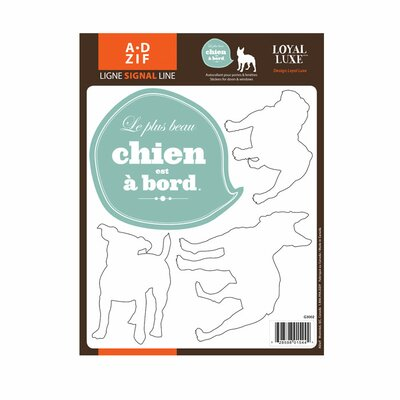 Signal Chien � Bord Window Sticker