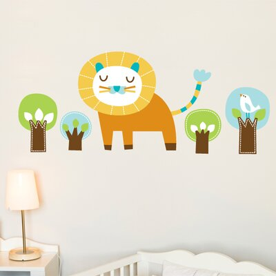 ADZif Piccolo Edgar the Lion Wall Sticker