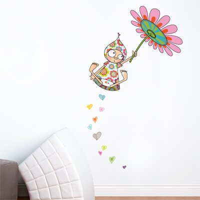 Ludo Violette Takes Flight Wall Decal